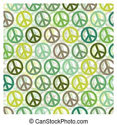 Patterns on a peace and love background - Background of...