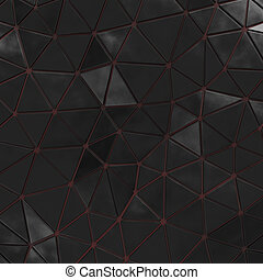 Abstract background of triangle polygons background. Black....