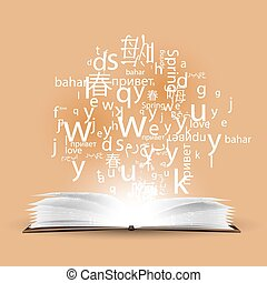 Learning a language, a polyglot. To speak in different...