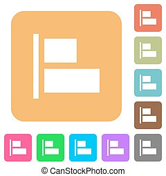 Align to left rounded square flat icons - Align to left flat...
