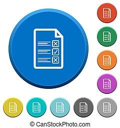 Questionnaire document beveled buttons - Questionnaire...