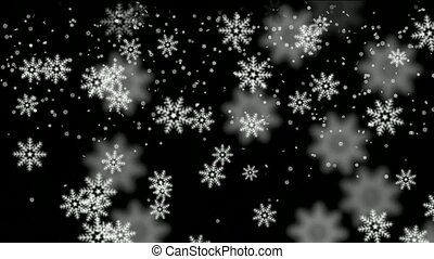falling white snowflake   - falling white snowflake