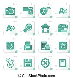 Stylized Internet and Website icons  Vector Icon Set