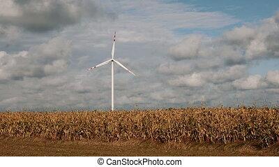 Wind turbine renewable energy generation - Wind turbine over...