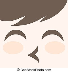 cuddly face design - original funny design of cuddly face