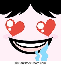 excited face - creative design of excited face