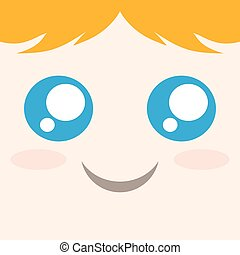 funny blondie face - design of funny blondie face