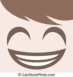 happy smiling face design - funny happy smiling face design