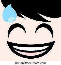 nervous expression design - funny draw of nervous expression