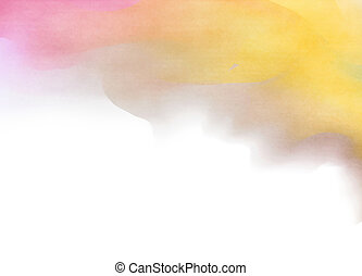 Abstract watercolor background. Digital art painting