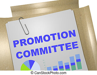 Promotion Committee concept - 3D illustration of 'PROMOTION...