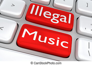 Illegal Music concept