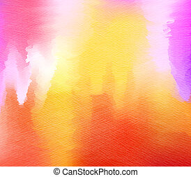Abstract colorful watercolor background. Digital art painting