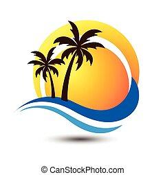 Summer logo - Summer holidays design Labels,...
