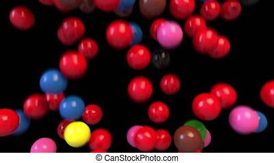 Snooker billiards pool balls fill screen transition...