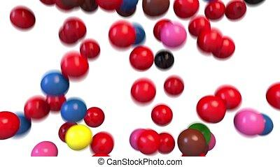 Snooker billiards pool balls fill screen transition...