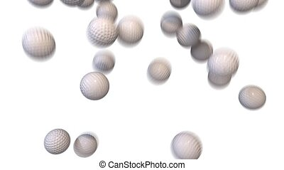 Golf balls fill screen transition composite overlay