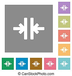 Vertical merge square flat icons - Vertical merge flat icons...