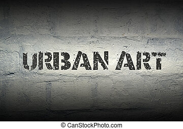 urban art GR - urban art stencil print on the grunge white...