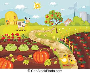 harvest card - vector illustration of a harvest card