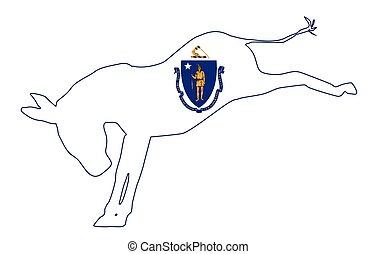 Massachusetts Democrat Donkey Flag - The Massachusetts...