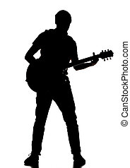 silhouette of a guitarist