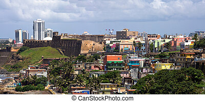 Old San Juan Coast - The La Perla neighborhood located in...
