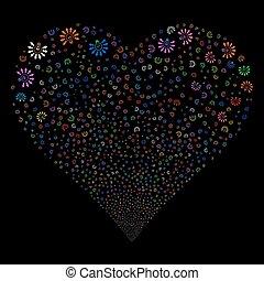 Light Bulb Fireworks Heart