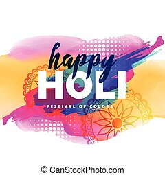 colorful illustration of holi festival