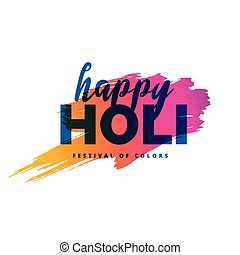 happy holi background with color splash