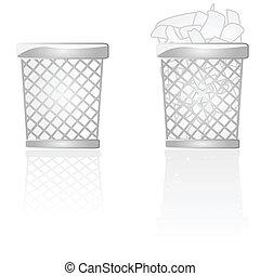 déchets, boîtes