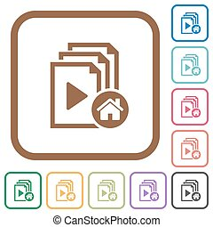 Default playlist simple icons