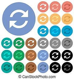 Refresh arrows round flat multi colored icons - Refresh...