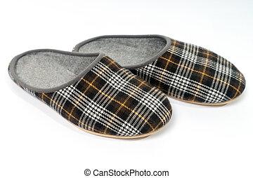 Slippers on light background