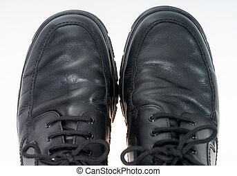 Mens shoes - Black mens shoes on light background
