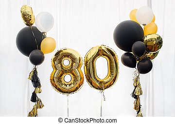 Decoration for 80 years birthday, anniversary - Decoration...