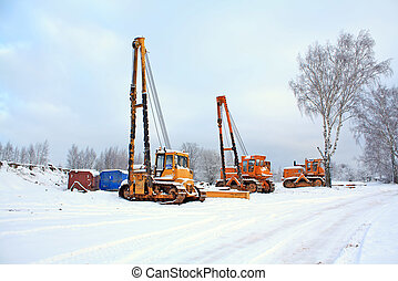 machines on construction of the gasmain