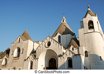 San Antonio trullo church of Alberobello - San Antonio...
