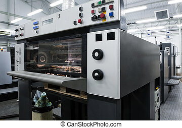 The equipment for printing in a modern printing house