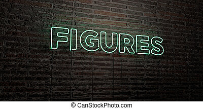 FIGURES -Realistic Neon Sign on Brick Wall background
