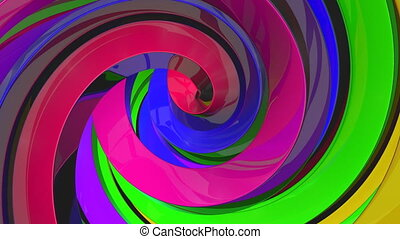3D Colorful Swirls Background - 3D Colorful swirl seamless...