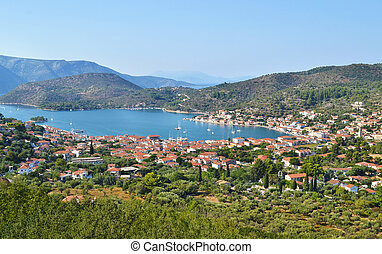 landscape of Vathy Ithaca Greece - landscape of Vathy Ithaca...