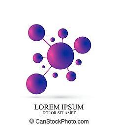 3D Logotype icon dna and molecule. Vector template Logo for...