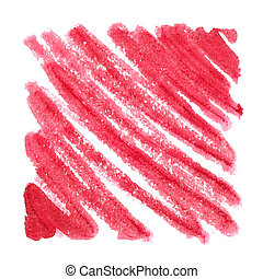 Red zigzag strokes. Abstract background. Space for your own...