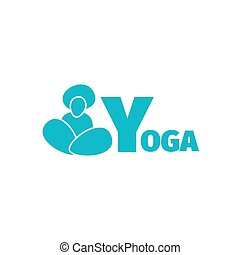 Yoga logo design template with man silhouette - Yoga sport...
