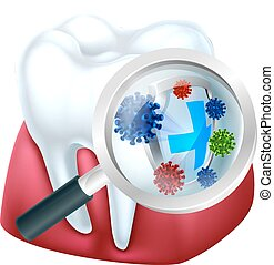 Tooth Protection - Tooth and gum being protected from...
