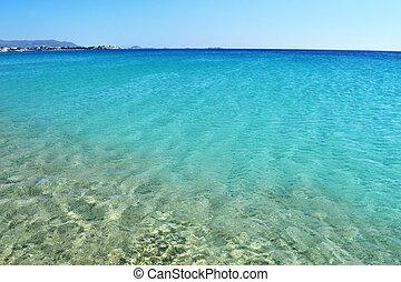 Saint Prokopios beach Naxos Greece - turquoise sea at Saint...