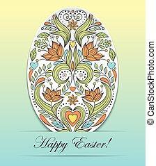 Floral easter egg on