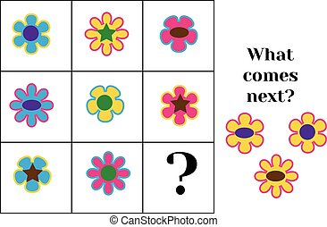 What comes next educational children game. Kids activity...