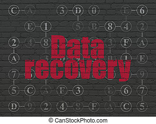 Data concept: Data Recovery on wall background - Data...
